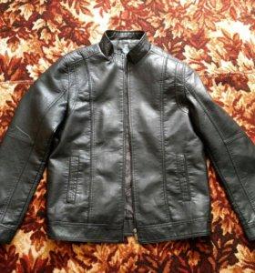 Кожаная куртка (кож.зам), 54размер.