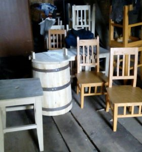 Бочки,стулья ручной работы