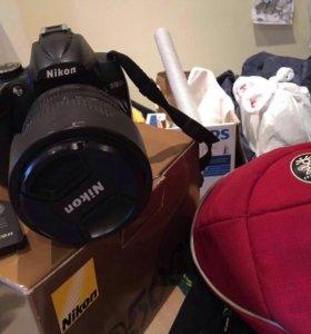 Зеркальная фотокамера Nikon D5000+линза+штатив