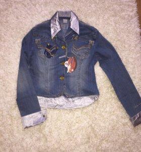 Новый женский джинсовый пиджак