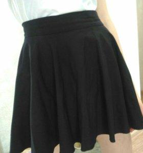 Расклешенная юбка мини