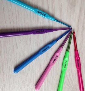 Крючки для вязания, новые.