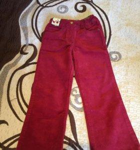 Новые вельветовые брюки рост 104