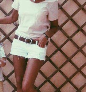 Белые шорты из джинсы