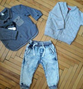 Джинсы, кофта, рубашка