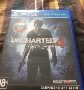 Диск на PS4 Uncharted 4