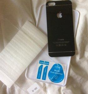 Заднее защитное стекло на iPhone 5/5s