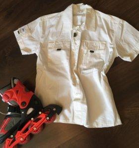 Хлопковая рубашка на 11-12 лет
