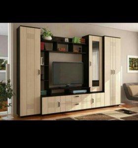 Гостиная Стиль-7А МДФ со шкафом