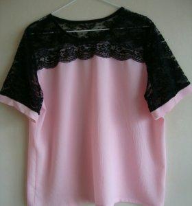Кружевная блузка. Размер 52-54.