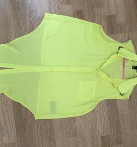 Рубашка (лимонного цвета)