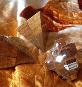 Головоломки новые треугольники и ёж