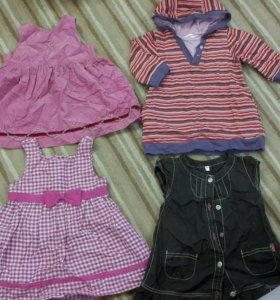 Платья и сарафаны для девочки на 1-2 года.