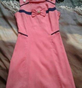 Персиковое платье.
