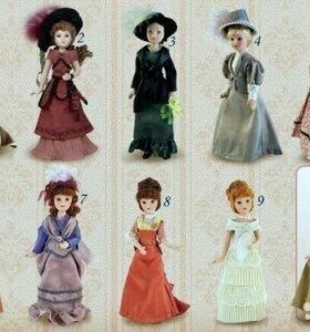 Дамы эпохи фарфоровые куклы
