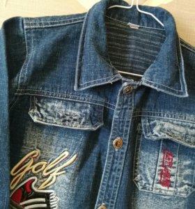 Новая фирменная джинсовая куртка от 4до6лет.