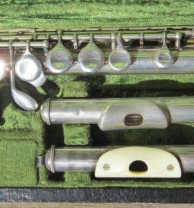 Флейта B&S немецкая система, серебро 900