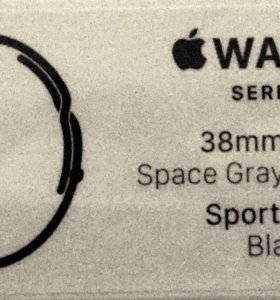 Apple Watch 38mm sport band black! Новые! РСТ!