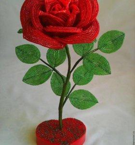 Цветы из бисера,розы,тюльпаны,дерево,лилии,бонсай