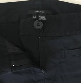 Брюки штаны Zara чёрные немного стрейч
