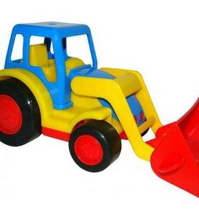 Трактор-погрузчик Базик в сетке .