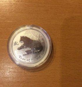 Монета 1 доллар Австралия.Серебро