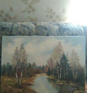 Картина холст масло -Пейзаж
