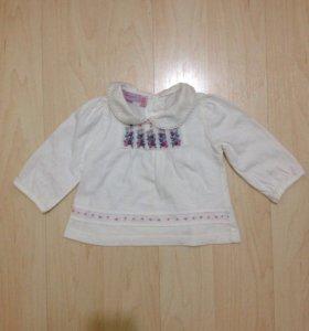 Детская блузка Monsoon на 0-3 мес.