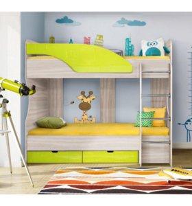 Яркая детская кровать Бриз#5
