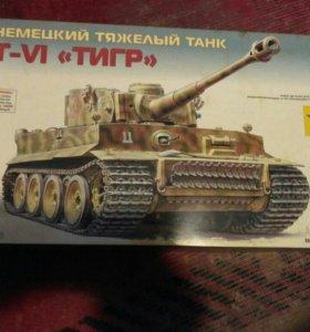 Сборная модель танка Тигр 1