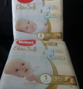 Huggies Elite Soft 1 (до 5 кг) или 2 (3 - 6)
