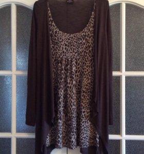 Новое, леопардовое платье, Германия, 44-46 разм.