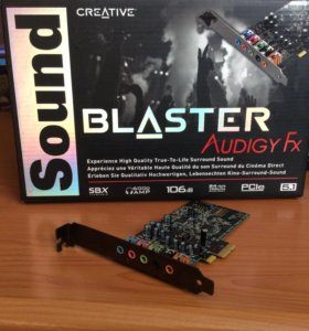 Звуковая карта PCI-E creative Audigy FX, 5.1