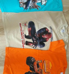 Новые футболки для детей 1-12 лет