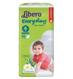 Подгузники Libero every day 4 от 7 до 18 кг 66 шт