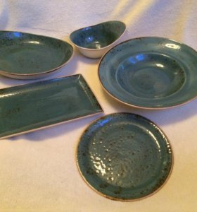Посуда *голубой Крафт*, фарфор, England-SteeIite-
