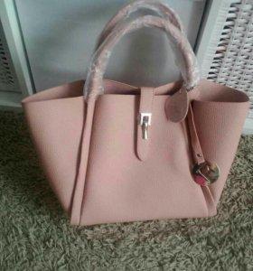 Женская сумка светлая на лето новая сумки женские
