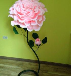 Объемные цветы, ростовые цветы, гигантский цветок