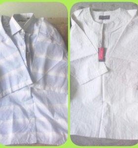 рубашки новые мужские