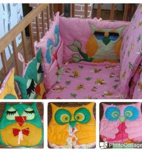 Бортики в детскую кроватку. Шьем на заказ.