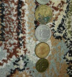 Старинные монеты 1 монета 1978года 2 монета 1987