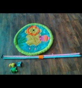 Развивающий коврик+балдахин и держатель