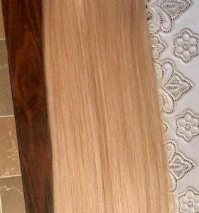 Термо волосы на заколках блонд