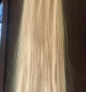 Накладной хвост блонд