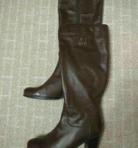 Сапоги кожаные 38 р-р