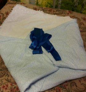 Конверт с одеялом на выписку в роддом