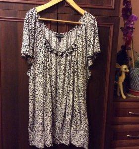 Нарядная блузка с бусинами,р.64-68