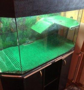 Аквариум для черепах с тумбой, 250 литров