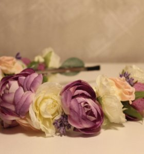 Ободок из цветов