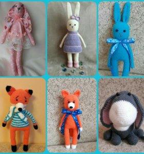 вязаные мягкие игрушки на заказ